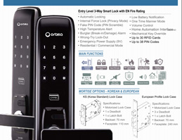 ORBITA smart fingerprint lock:CM1000K Instructions