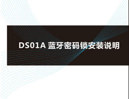 ORBITA smart fingerprint lock:DS01 Instructions